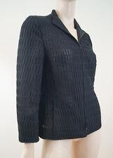 AKRIS Women's Black 100% Silk Slightly Sheer Fabric Detail Evening Jacket Sz: M