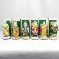 "Vintage Lot of 6 Heilig Meyers Christmas 5"" Santas Around the World w/ Boxes"