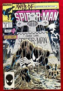 1987 Web of Spider-Man #32 Kraven's Last Hunt NM+ MARVEL KEY Issue vtg 80s