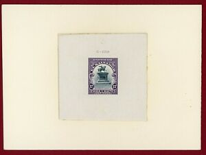El Salvador 1912 #407, Die Proof on Card, Monument of Barrios on Horse, ABNC