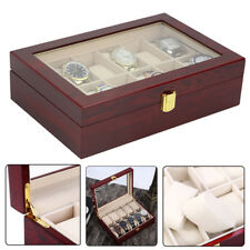 10 Grids Watch Box Display Case Jewelry Collection Storage Organizer UK UKED