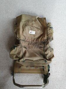 Tracker Old External Metal Frame Back Pack Rucksack Bag Beige Vintage