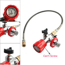 4500Psi Air Tank Carbon Fiber Valve Gauge G5/8 Male Thread Fill Station W/Hose