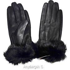 Women's Gloves, Leather Gloves Real Fox fur Warm Lined Winter Dress Gloves GL600