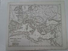 Vintage Map,ROMAN EMPIRE,Heck,c1851