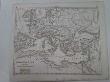 Vintage Map,ROMAN EMPIRE,Heck,c1851