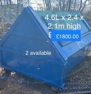 6No Roll On Roll Off Hooklift Skips      Individually If Required