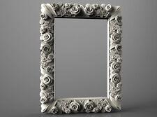 3d STL Model for CNC Router Engraver Carving Machine Artcam Aspire Roses Frame