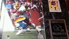 Clinton Portis #26 Washington Redskins signed plaque+ coa