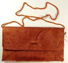 Sac à main de cérémonie Les 3 CHAPEAUX pochette femme orange rouille woman bag