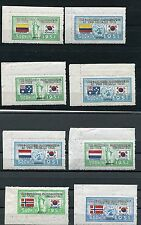 SOUTH KOREA 1951 NATIONS IN KOREAN WAR FLAG SET SCOTT 132-73 PERFECT MNH