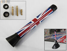 2002-2013 MINI COOPER  3'' UK FLAG UNION JACK SCREW-ON TYPE SHORT SPORT ANTENNA