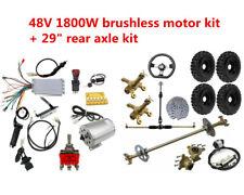 """29"""" Go Kart Rear Axle + 6"""" Wheels + 48V 1800w Brushless Electric motor ATV Quad"""