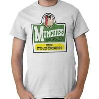 Munchies Its 420 Somewhere Stoner Marijuana Short Sleeve T-Shirt Tees Tshirts