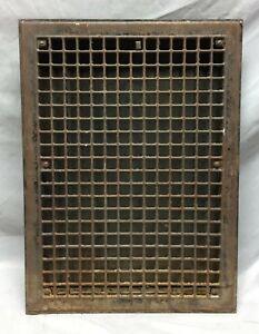 Vintage Stamped Steel Heat Grate Register Arts and Crafts 14X20 163-19C