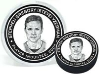 Steve Yzerman Detroit Red Wings 2009 Hall of Fame 3D Textured Puck (in Tube)