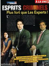 Coupure de Presse Clipping 2009 (3 pages) Esprits Criminels