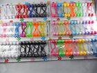 28 pcs Scrunchie jumbo beads hair tie girl Ball Ponytail Holder choose color