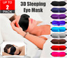 3D Soft Padded Sleeping Eye Mask Blindfold Sleep Travel Shade Light Blinder
