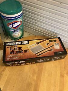 80 Watt Iron Plastic Automotive Welder Welding Kit w Welding Rod/Mesh/Brush
