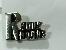 Vintage Randy Rhoads Name Metal Badge