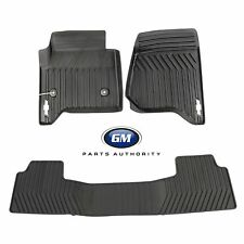 2015-2019 Chevrolet Tahoe Front & 2nd Row Premium All Weather Mat Pkg Black OEM