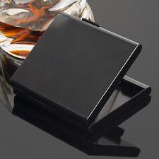 New Aluminum Metal Cigarette Case Card Case Holder For 20 Cigarettes Black