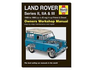 LAND ROVER SERIES HAYNES MANUAL 2, IIA & III (3) 58-85 WORKSHOP MANUAL DA4636