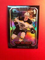 2018-19 OPC Platinum VIP Black Rookies #5 Ryan Donato Boston Bruins RC
