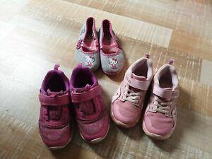 Schuhpaket für Mädchen, Gr. 29, 3 Paar Schuhe, Hello Kitty, Leuchtschuhe, FILA