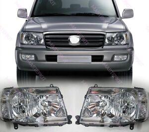 Headlights Head lamp for Toyota LAND CRUISER 100 Set Left + Right Halogen 06-07