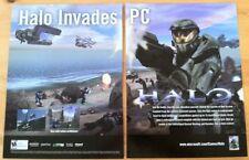 Halo Combat Evolved Poster Ad Print X-Box PC Retro