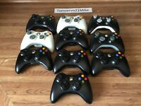 Lot of 10 Official Microsoft Xbox 360 Wireless Controllers Untested Sold AS - IS
