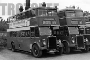 Larger Negative Hants & Dorset Leyland Titan ECW 1149/50 GLJ961/2 c1950s