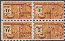 Scott # 1357 - Daniel Boone - Block Of 4 - Mnh -1968