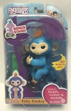 "New Damaged Box Fingerlings Baby Monkey ""Boris"" Interactive Toy w/ Bonus Stand"