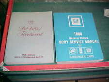 1988 CADILLAC DEVILLE FLEETWOOD SERVICE MANUAL vg & 1988 FISHER BODY MANUAL vg+