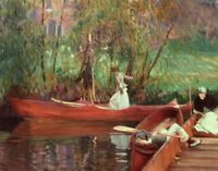 A Boating Party John Singer Sargent Fine Art Print on Canvas Giclee Repro Small