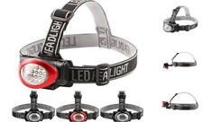 4 Pack Headlamp Flashlight with Adjustable Headband, 12 LED 3 Mode Head Lamps