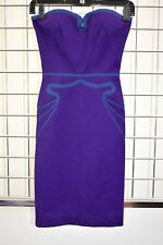 Designer Bodycon Stretch Purple Fancy Dress Size XSmall On Sale df