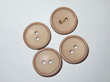 4 23mm Pink 2 Hole Vintage Buttons 1960-1980s