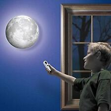 Authentically 3-D Moon In My Room Remote Control Wall Decor Night LED Light
