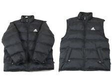 Vintage ADIDAS Down Puffer Jacket + Bodywarmer | Men's L | Puffa Retro Vest Coat