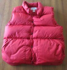 L.L. Bean Puffer Vest Red Goose Down Men's Tall Size XL EUC