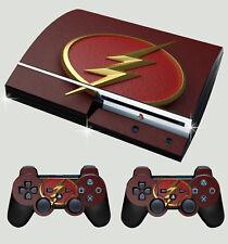 PLAYSTATION PS3 Old forme Flash Logo 01 SUPERHERO Autocollant Peau & 2 Pad Skins