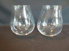 RIEDEL Stemless Crystal  Pinot Noir Wine Glasses Set of 2 EUC