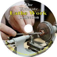 Lathe Work 29 Books on CD, How to run a Lathe, Guide Machinery Shape Wood Metal
