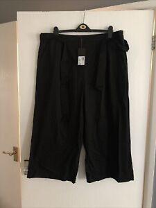 """Ladies - Women's - Crop Trousers Size 20 - Eur 48 -Black - Klass - L23"""" - Nwt"""