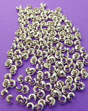 2.5mm 925 Sterling Silver Crimping, Knot and Crimp Covers 25pcs
