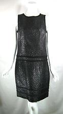 YANSI FUGEL Metallic Black Sleeveless Cocktail Dress Size 10